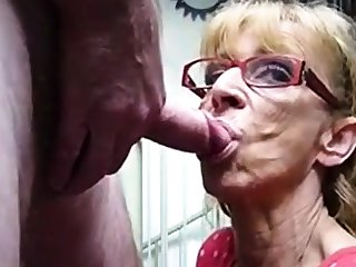 Very grey hookup unpaid granny gives blowjob