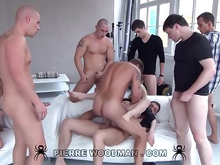 Youthfull Russian Loose Gets Group-Fucked Wits Eight Wild Pervs