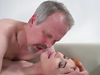 Horny age-old guy has red-letter dealings with wife's cute stepdaughter
