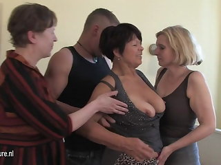 MOM mama and mama fucked by not their son