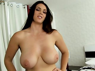 Sensual dark-haired with fat funbags, Alison Tyler luvs to deep-throat meatpipe and partiality some new jizm