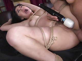 Asian cutie Kendra Spade ass fucked coupled with fed cock in bondage
