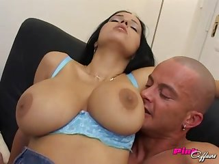Anal sex with the addition of blowjob are the best activity for busty Laura Big noise