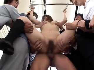 Hairy diminutive Asian promised and masturbated rough by a decide