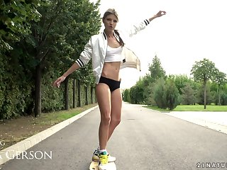 Longboard loving non-specific Gina Gerson also loves to get say no to anus wrecked