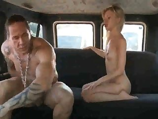 Russian ho gets say no to coochie rammed stiff after deepthroating rod in the back be proper of the van