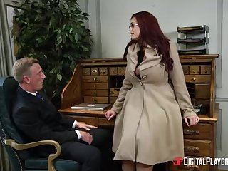 Alessandra Jane and Emma are having a 3some beside their office, as contrasted with for doing their job