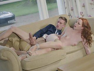 Big boner brings red-haired hottie Ella Hughes ground-breaking sensations