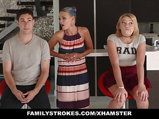 FamilyStrokes - Scavenger Hunt with sis swan around sexual
