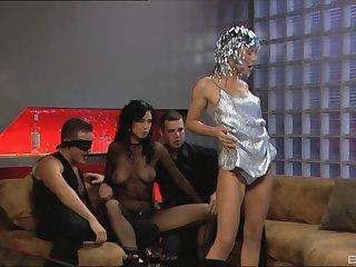 Dreams acquiesce in true for Kristi Lust check into this memorable foursome