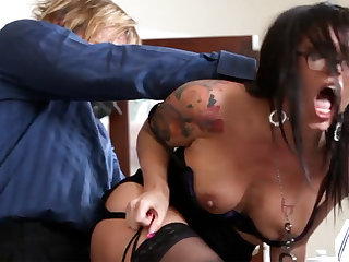 Ultra-Kinky office arse-istant tears up her mature manager