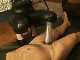 Telluric slave & penis pump hard by Mistress Antonella