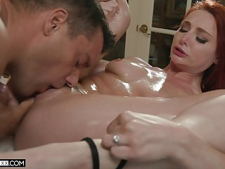 Hot redhead enjoys the best fuck with one of her friends