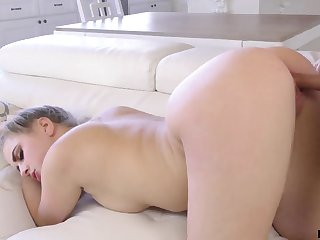 Erotic gal does the arch like a pro and she makes doggy show off fuck look hot
