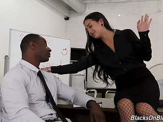 Office flirting leads to hot fucking and that girl loves sex