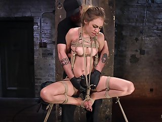 Pounding hair blonde Lyra Law is more than qui vive for BDSM experience