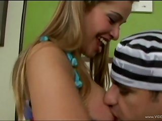 Cute blonde teen is into role-playing with the addition of anal branch of knowledge