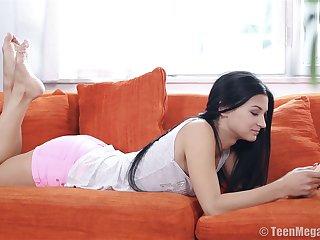 Adorable babe Albina C sucks a dick and enjoys having nice sexual congress