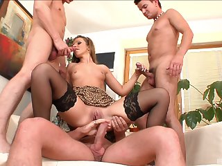 MILF ass fucked by three with the addition of jizzed in insane modes