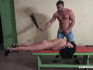 Pauper spanks his bitch then fucks her pain in the neck unimpassioned
