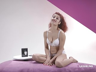 Erotic redhead Dana Santo loves there test experimental sex toys for you