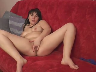 This Latina slut is a bit on the chubby side and her solo play is worth a look