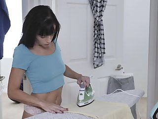 Left home alone dark haired MILF Alana Cruise desires involving tot her wet pussy
