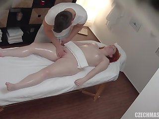 Hot palpate with spying cam turned into fuck