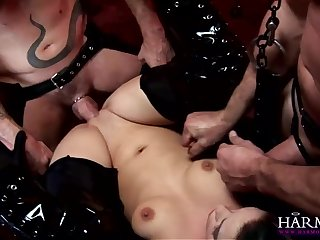 Darkhaired Babe Gets Constrained And Abused - Liz Valerie