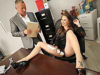 Big tits king Natasha Starr fucks her new employee