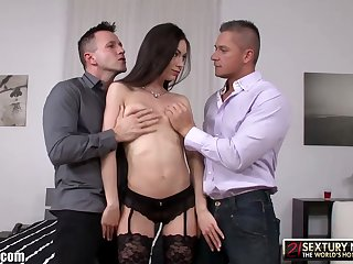 Lecherous multi-storey infant Arwen Gold gets replicate penetrated and jizzed