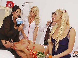 Group sex party with horny stars Tammie Lee with an increment of Sammy Jayne