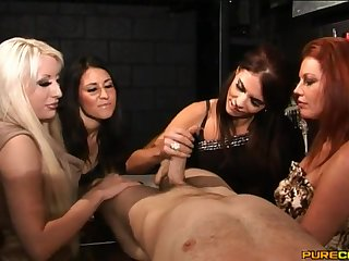 CFNM dusting yon naughty babes Megan Coxxx and Valerie Fox