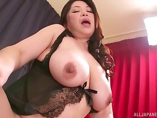 Two naughty chicks take turns at playing with a stiff pecker