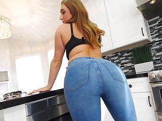 Denim tease & panty filling