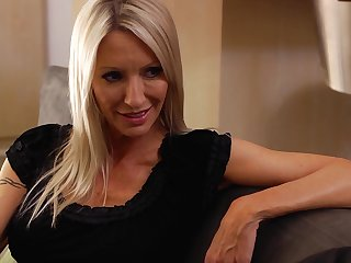 Interesting wife Emma Starr in stockings with an increment of lingerie moans during sex