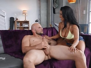 Bald buffalo fucks burnish apply girlfriend with nipple piercing on vis-
